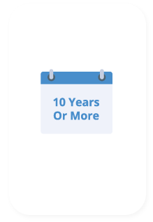 10 or more years