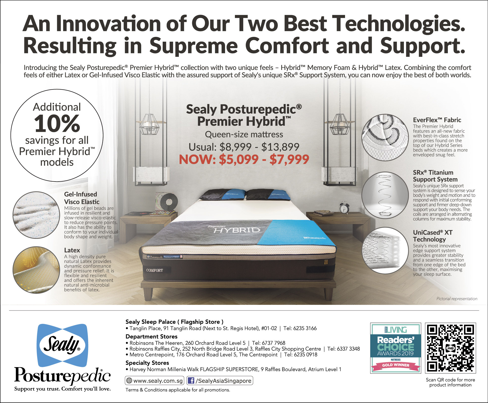 Sealy Posturepedic Premier Hybrid Mattress Sale
